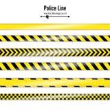 Giallo con la linea di polizia nera Nastri di quarantena di sicurezza del pericolo Isolato su priorità bassa bianca Illustrazione royalty illustrazione gratis