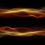Giallo cosmico delle onde Fotografia Stock