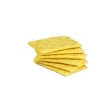 Giallo dei cracker isolato su bianco Fotografie Stock Libere da Diritti