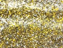 Giallo del fondo, scintillio dell'oro Immagini Stock