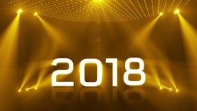 Giallo del nuovo anno 2018 di illuminazione illustrazione di stock
