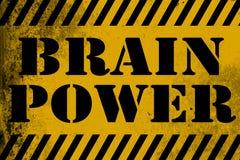 Giallo del segno di Brain Power con le bande royalty illustrazione gratis