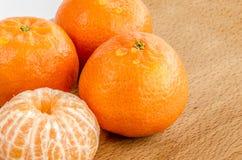 Giallo delizioso del mandarino Immagini Stock Libere da Diritti