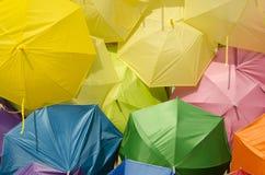 Giallo di tono di colore dell'ombrello Immagine Stock