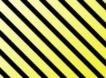 Giallo diagonale del nero delle bande Fotografie Stock Libere da Diritti
