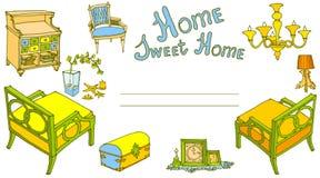 Giallo dolce domestico del prov della decorazione della mobilia Immagine Stock Libera da Diritti