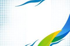 giallo e blu ondeggia il lato del bottone giusto, fondo del abstrack Fotografie Stock Libere da Diritti