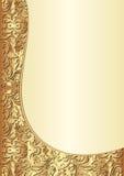 Giallo e fondo dell'oro Immagine Stock
