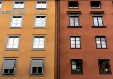 Giallo e rosso scoloriti fotografia stock libera da diritti