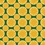 Giallo e verde arancio del modello della frutta Fotografia Stock Libera da Diritti