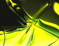 Giallo e verde astratti Fotografia Stock