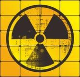 Giallo nucleare del pericolo Immagine Stock Libera da Diritti