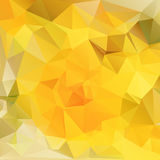 Giallo poligonale del fondo Fotografia Stock