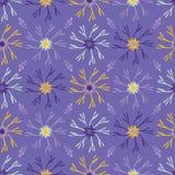Giallo porpora del modello di vettore dei petali della fioritura del fiore illustrazione vettoriale