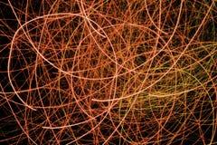 Giallo, rosso, esposizione della luce, laser colorato Fotografia Stock Libera da Diritti