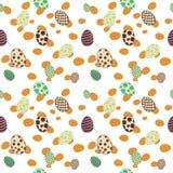 Giallo senza cuciture del modello delle uova di Pasqua Fotografia Stock