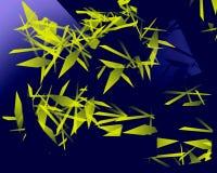 Giallo verde dei triangoli di Abstrack illustrazione vettoriale