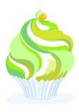 Giallo verde del muffin Fotografie Stock