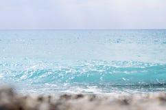 Gialos海滩在莱夫卡斯州海岛(希腊) 免版税库存图片