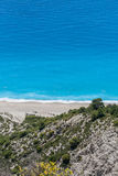 Gialos beach at the island of Lefkada Stock Photos