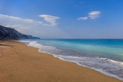 Gialos beach. Lefkada, Greece. Gialos beach on the island of Lefkada, Greece stock photo