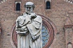 Gian Domenico Romagnosi statue. Piacenza. Emilia-Romagna. Italy. Royalty Free Stock Photo