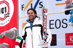 Giancarlo Bergamelli no pódio foto de stock