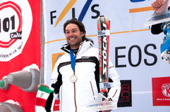 Giancarlo Bergamelli on the podium Stock Photo
