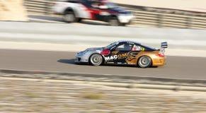 Giancola que compite con durante desafío de la taza de Porsche GT3 Foto de archivo