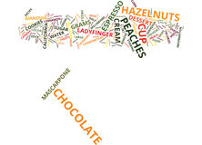 Gianduia Peaches Word Cloud Concept Photographie stock