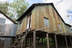 An Giang,越南- 2016年12月6日:可汗champa, campa湄公河三角洲的乡下人房子,越南外视图  库存图片