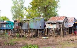 An Giang,越南- 2014年11月29日:可汗champa, campa湄公河三角洲的乡下人房子,越南外视图  免版税库存图片