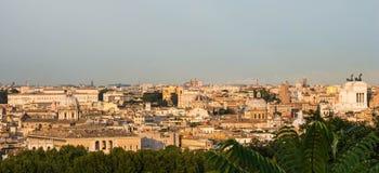 从Gianicolo,罗马,意大利的看法 图库摄影