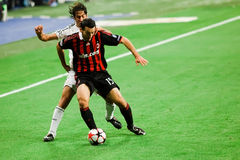 Gianluca Raul εναντίον του zambrotta Στοκ Φωτογραφία