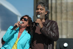 Gianna Nannini, Andrea Bocelli Stock Photos