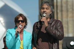 Gianna Nannini, Andrea Bocelli Royalty Free Stock Photos
