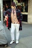 Gianni Фонтана Streetstyle Милан, зима 2015 2016 осени недели моды милана Стоковые Фотографии RF