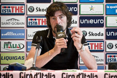 Gianni Bugno Giro d'Italia. Gianni Bugno ex cyclist at Giro d'Italia 2010 Royalty Free Stock Photo