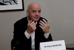 GIANNI INFANTINO_CANIDATE FOR PREISDENT FIFA SPORTS Stock Image