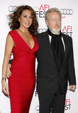 Giannina Facio and Ridley Scott Stock Images