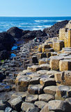 Giant's Causeway. Located in County Antrim on the northeast coast of Northern Ireland royalty free stock photo