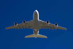 Giant airliner take off. Front view Royalty Free Stock Photos