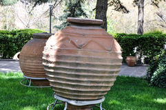 Giant ancient amphoras in courtyard of Anatolian Civilizations M Royalty Free Stock Image