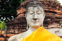 Giant ancient Buddha Stock Photography