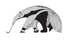 Giant anteater. Stylized image of a giant anteater vector illustration