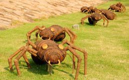 Giant Ants. Large ant sculptures at Chenshan Botanical Gardens in Songjiang district of Shanghai China Royalty Free Stock Images