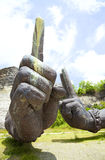Giant Arms at Bali, Indonesia. Image of giant floating arms at Garuda Wisnu Kencana Cultural Park, Bali, Indonesia Royalty Free Stock Image