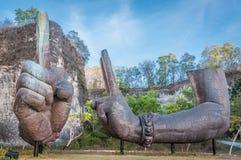 Giant Arms of Garuda Wisnu Kencana at Bali, Indonesia Stock Photo