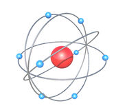 Giant atom particle Stock Images