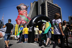Giant balloon being inflated Dilma Stock Photos